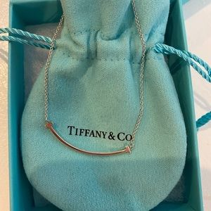 Tiffany & Co. T Smile Necklace Silver